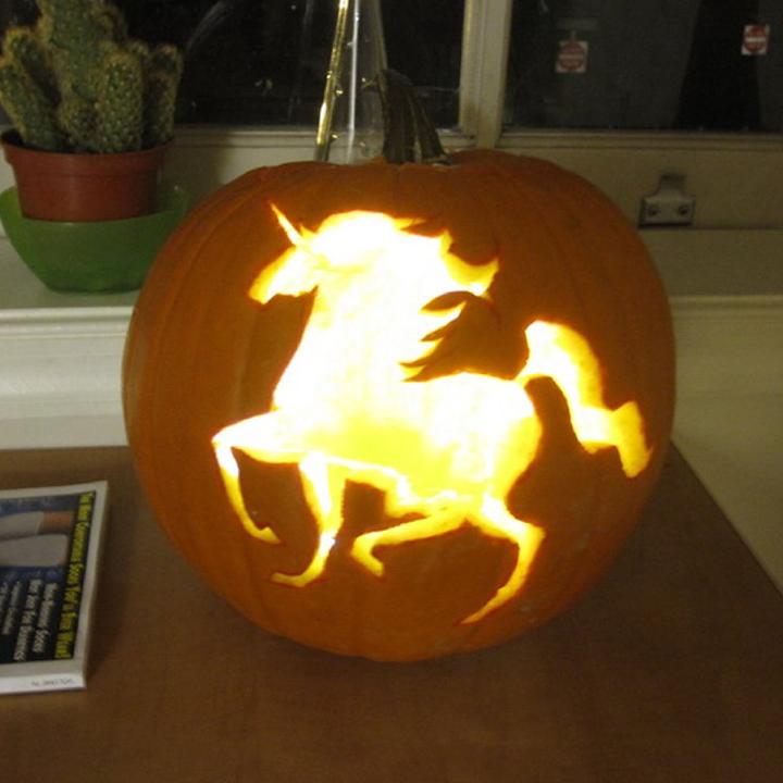 Unicorn Pumpkin Carving Pumpkin Carving Easy Pumpkin Carving Unicorn Pumpkin