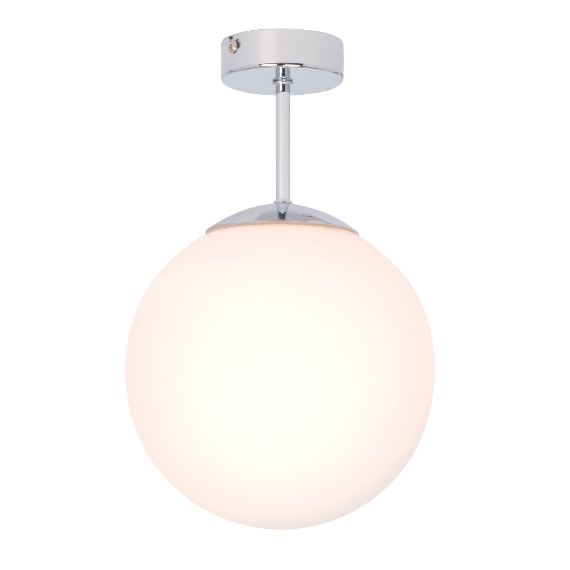 Splash Chrome Effect Bathroom Semi-Flush Light | Semi flush lighting ...