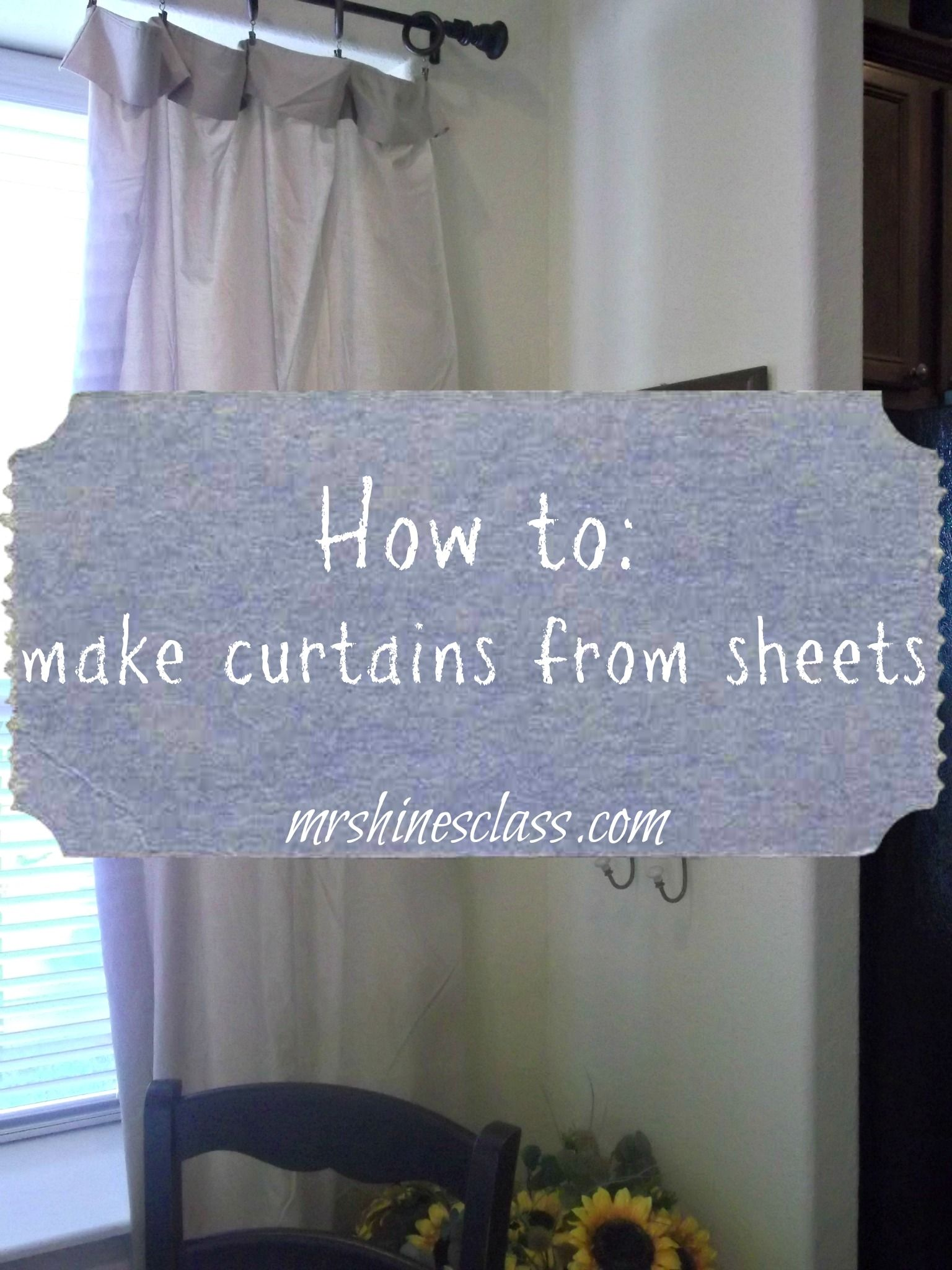 How to Turn a Sheet Set into Curtains