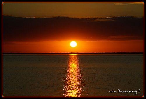 Sunset over John Redmond Reservoir