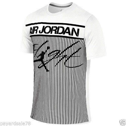 Jordan Flight Men's T-Shirts White/Black