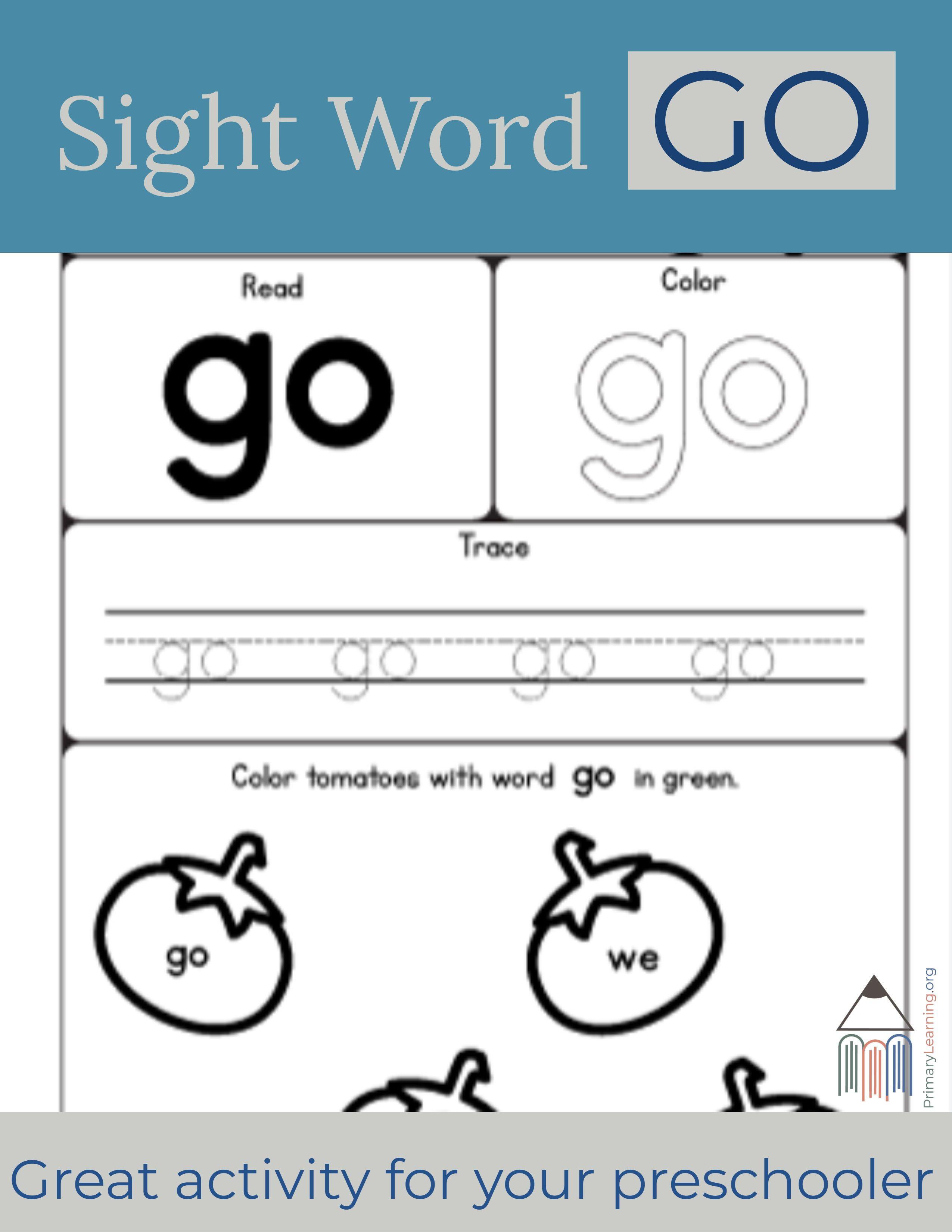 Sight Word Go Worksheet