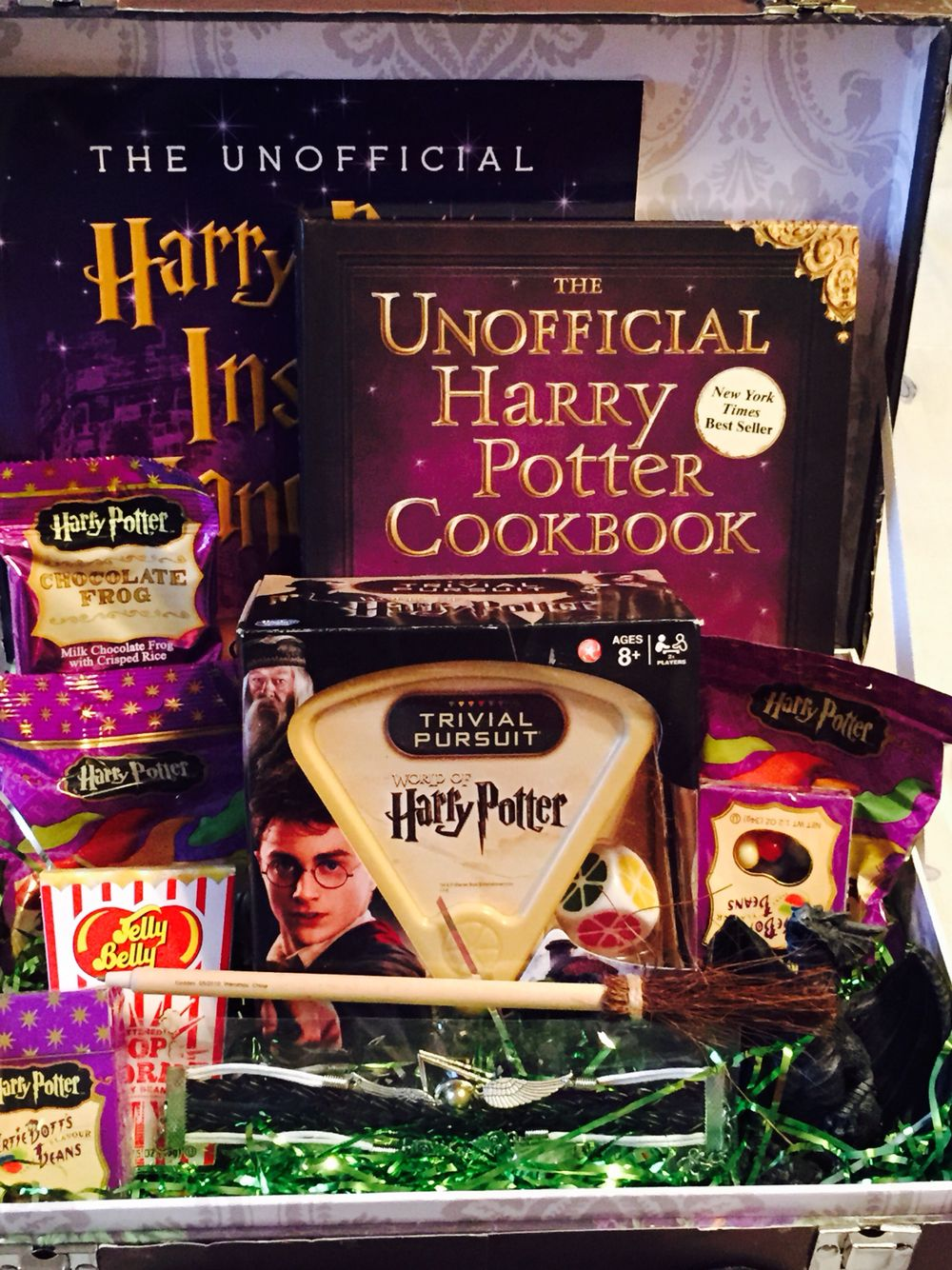 Harry Potter gift basket, before being put in the gift basket bag ...