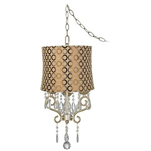 Conti 14 wide copper circle shade mini swag chandelier swag conti 14 wide copper circle shade mini swag chandelier aloadofball Images
