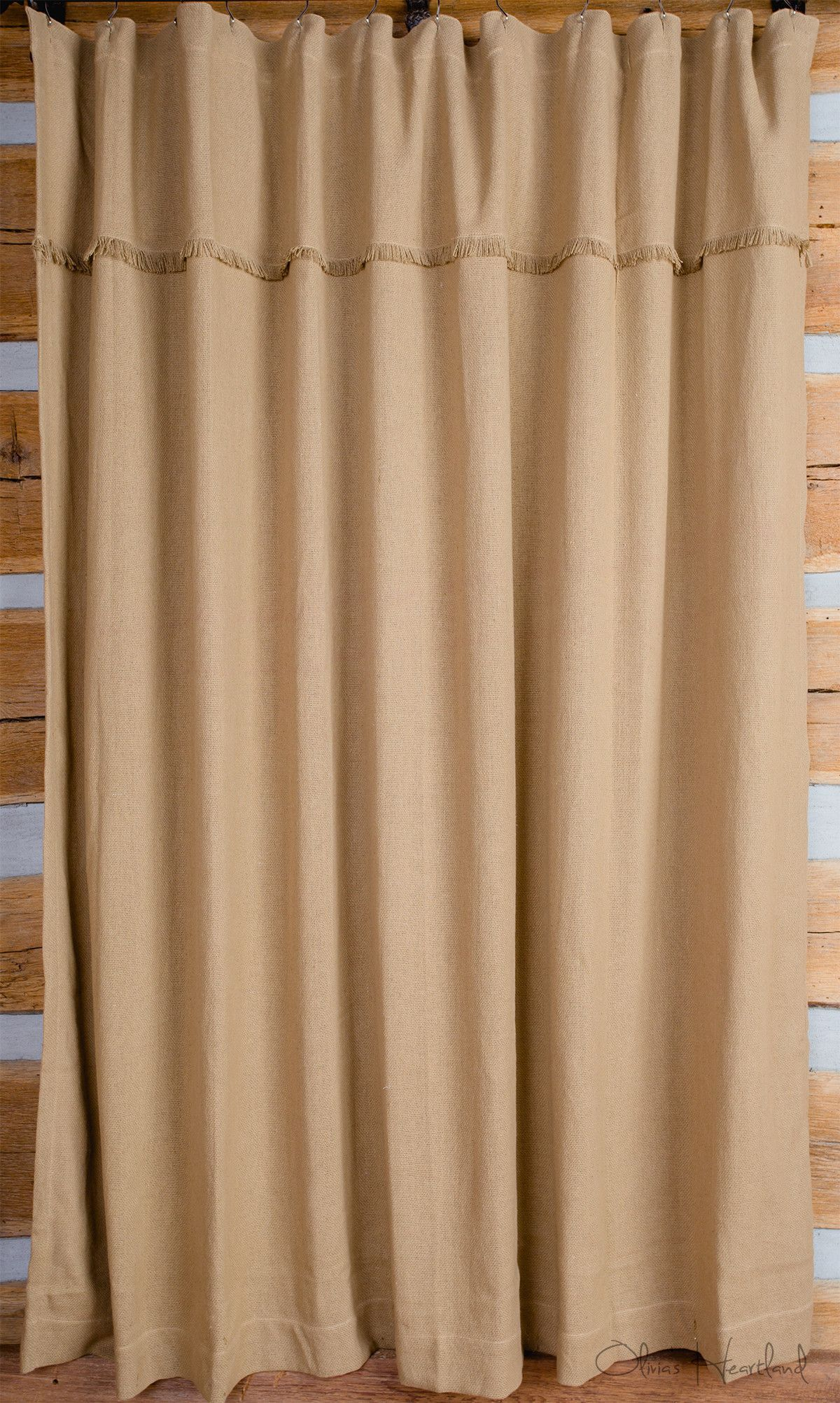 Deluxe Burlap Natural Tan Shower Curtain Burlap Shower Curtains
