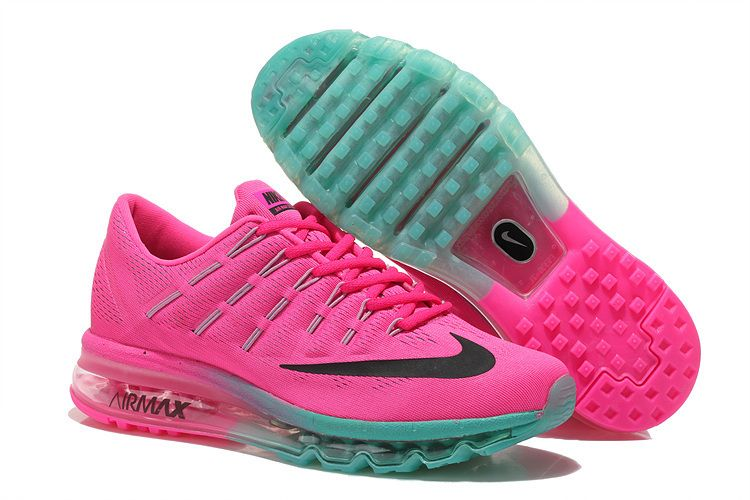 online store 92ac6 a5a8a Nike Air Max 2016 Women Rose Green Running Shoes