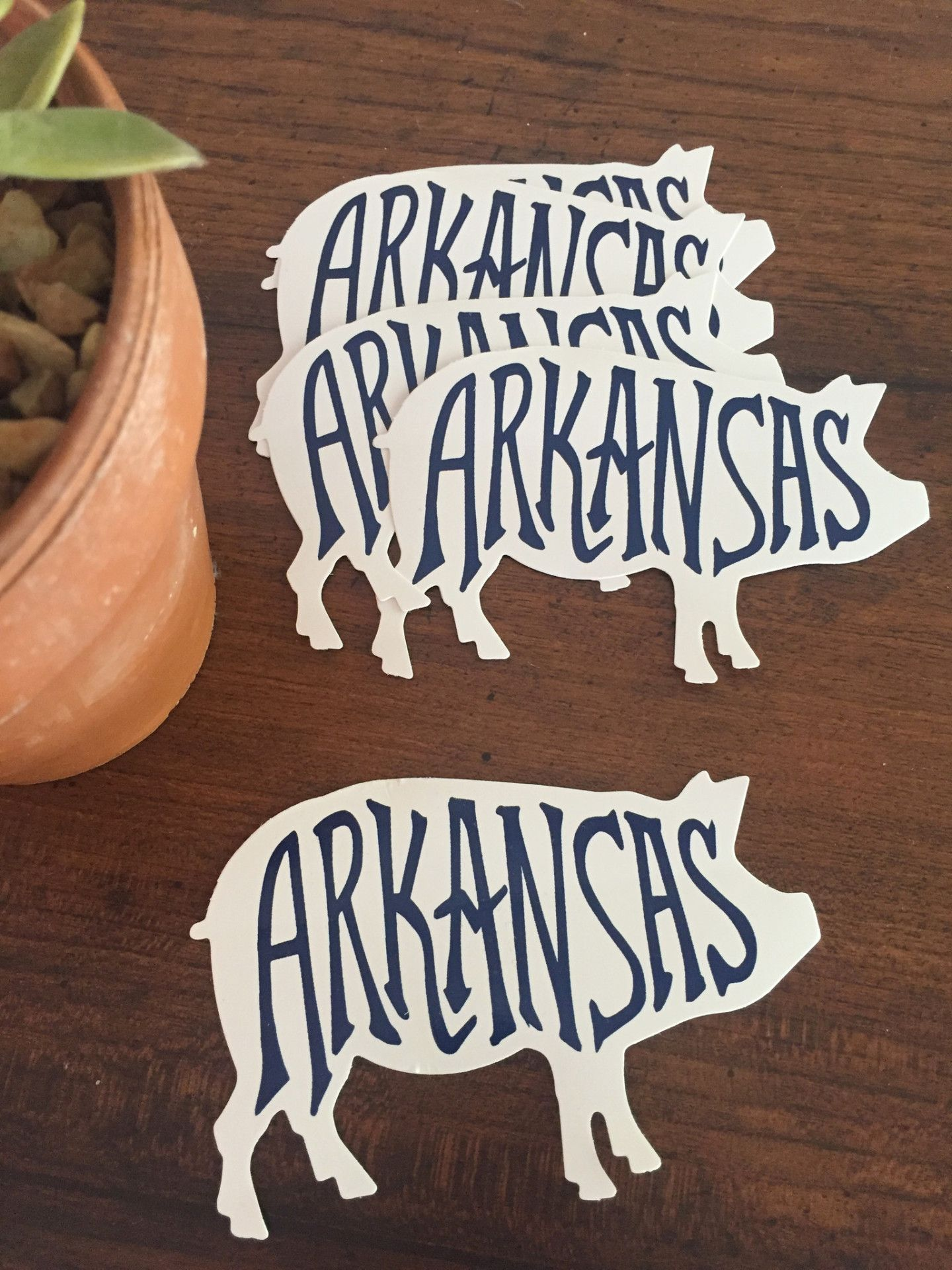 Arkansas Pig Decals Silhouette Cameo Fayetteville