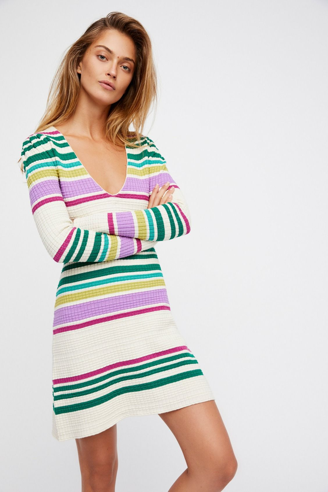 Black combo gidget sweater mini dress at free people clothing