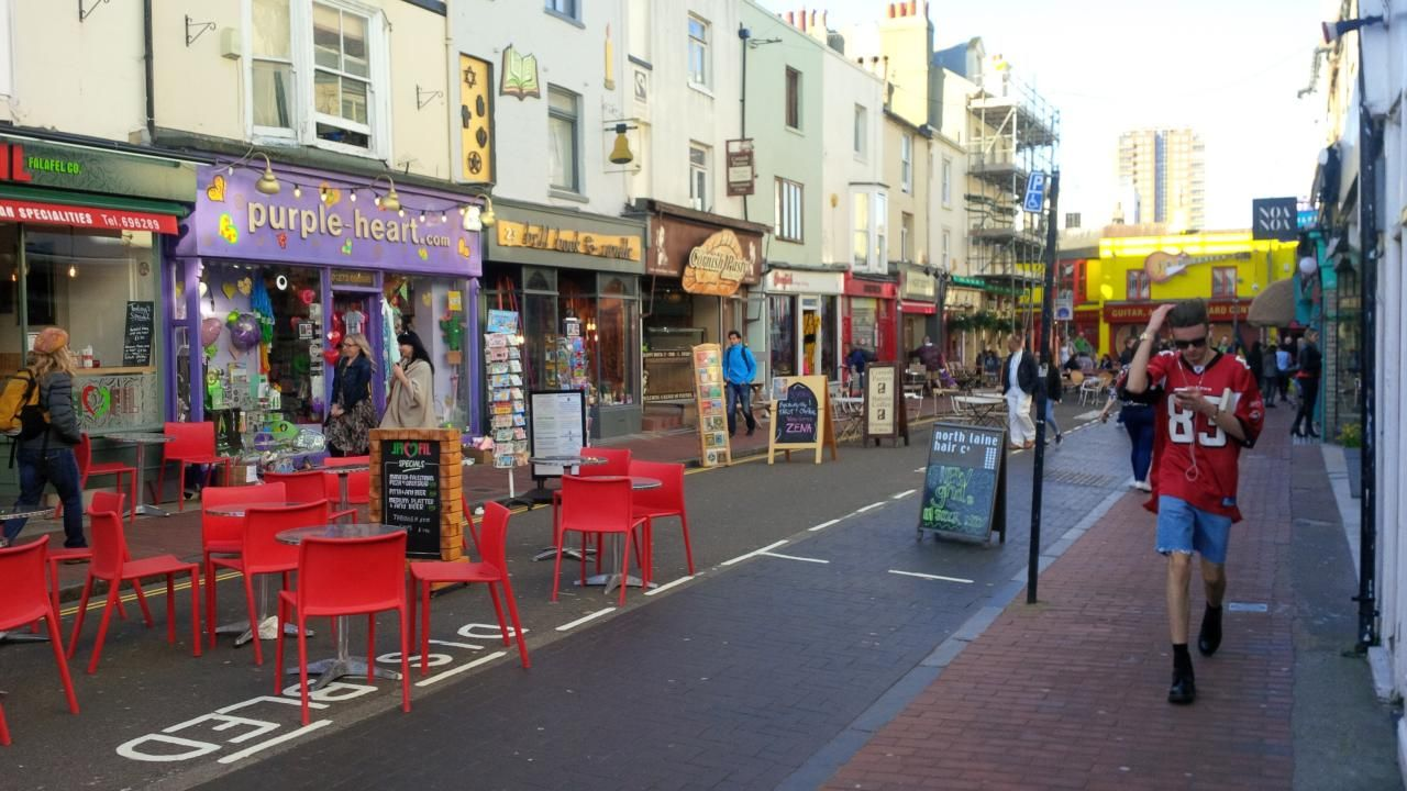 North Laine in Brighton full of awesome shops, markets and foodie hotspots