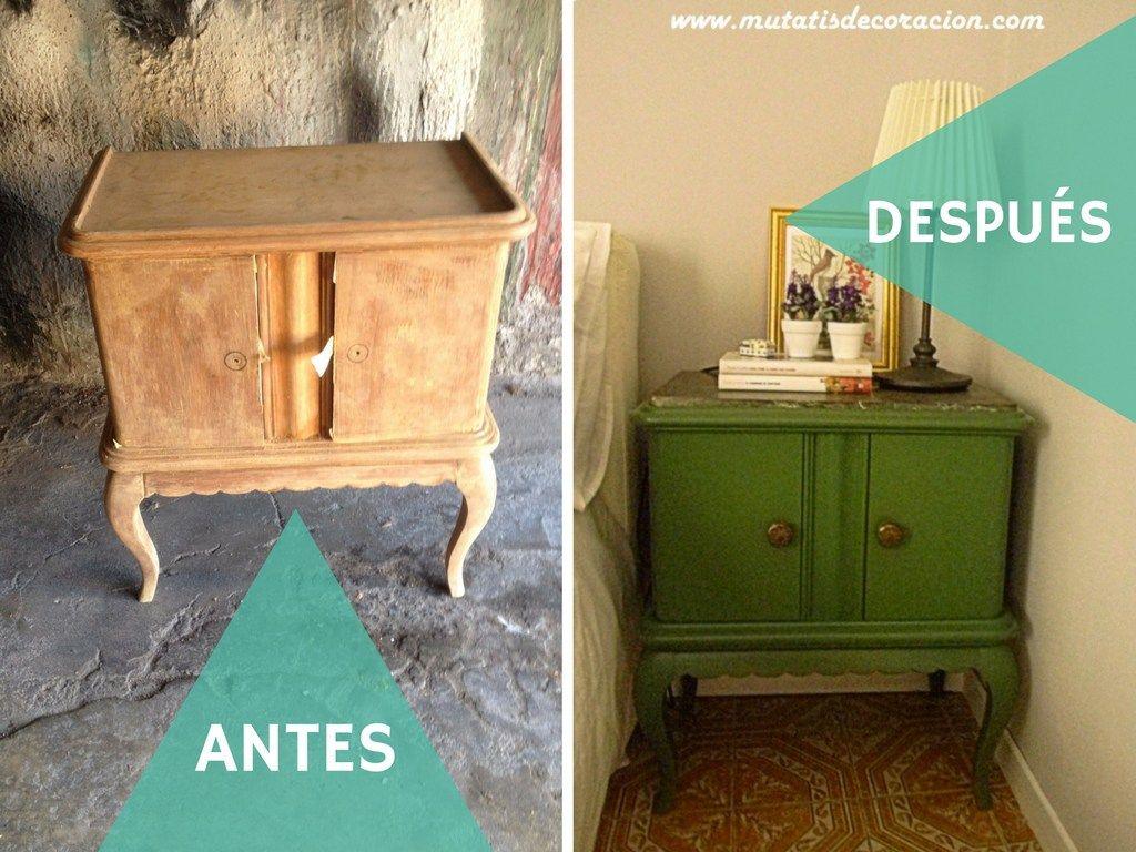 Mesillas Antiguas Antes Y Despu S Mesita De Noche Mesas  # Muebles Reformados Antes Y Despues