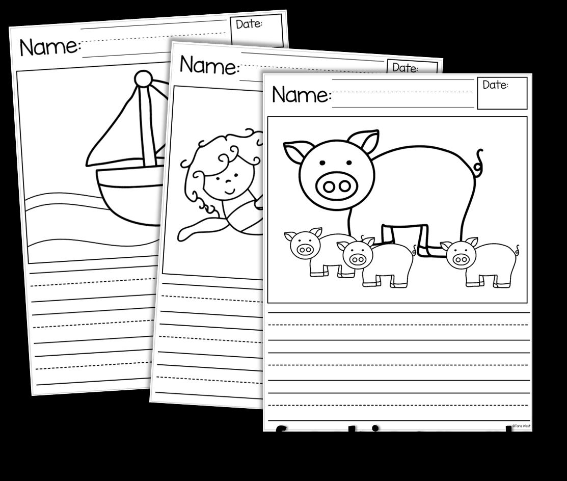 Writing Story Starters Freebie Too Little Minds At Work Kindergarten Story Writing Kindergarten Writing Kinder Writing [ 944 x 1113 Pixel ]