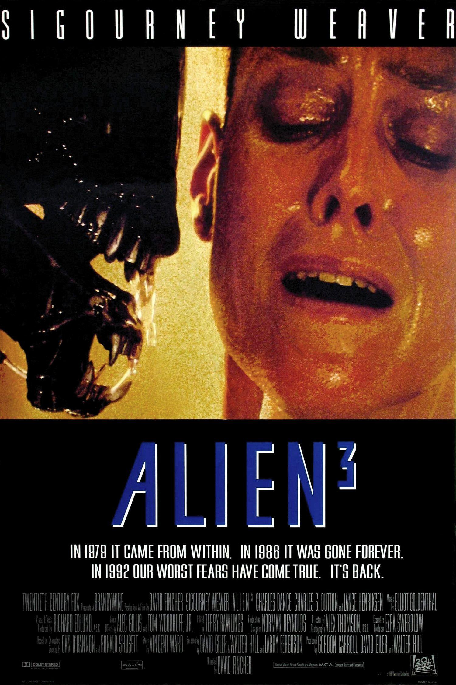 Alien 3 dc aliens movie movie posters sci fi horror movies