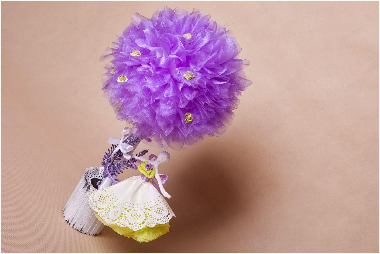 Ania Inspiruje Kurs Drzewko Z Organzy Z Baletnica Paper Decorations Crochet Earrings Floral Rings