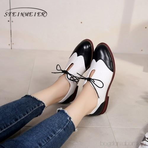 Yinzo Kobiety Mieszkania Oxford Buty Kobieta Oryginalne Skorzane Buty Sportowe Damskie Brogues W Stylu Vintage Buty Na Lato N Oxford Shoes Womens Oxfords Shoes