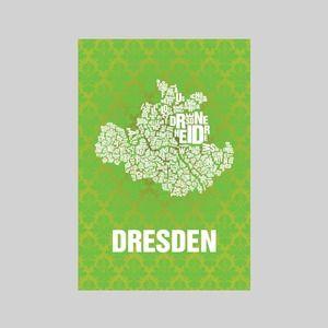 Leinwand Dresden Buchstabensalat