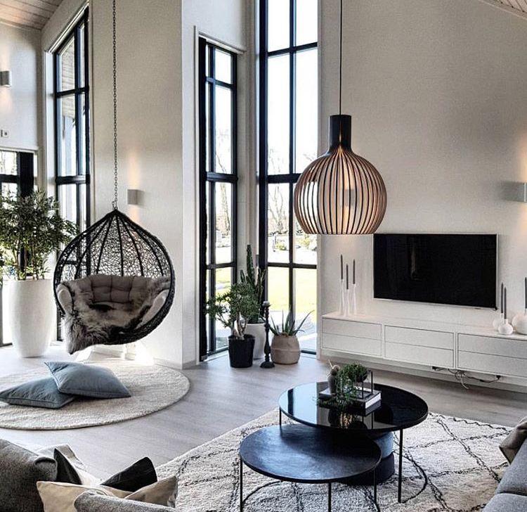 Grand salon moderne et cocooning d coration de maison en 2019 d coration salon appartement - Grand salon moderne ...