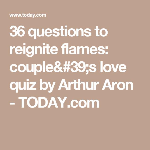 Arthur aron 36 questions