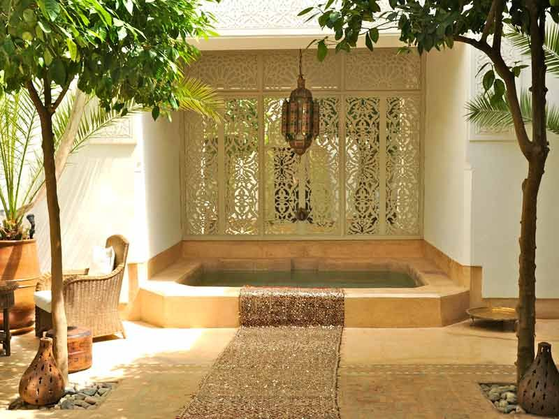 Splash Pool within an internal courtyard. Marrakech