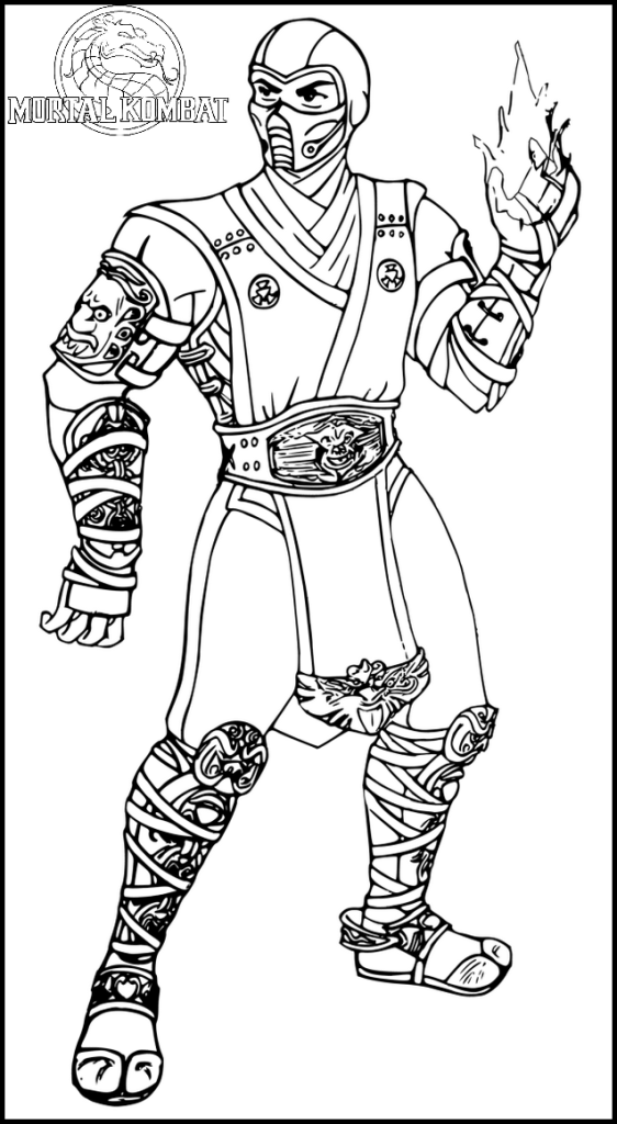 Fantastic Mortal Kombat Coloring Page