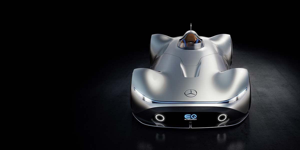 Mercedes Benz Eq Silver Arrow Debut En Pebble Beach Mercedes Benz Autos Mercedes