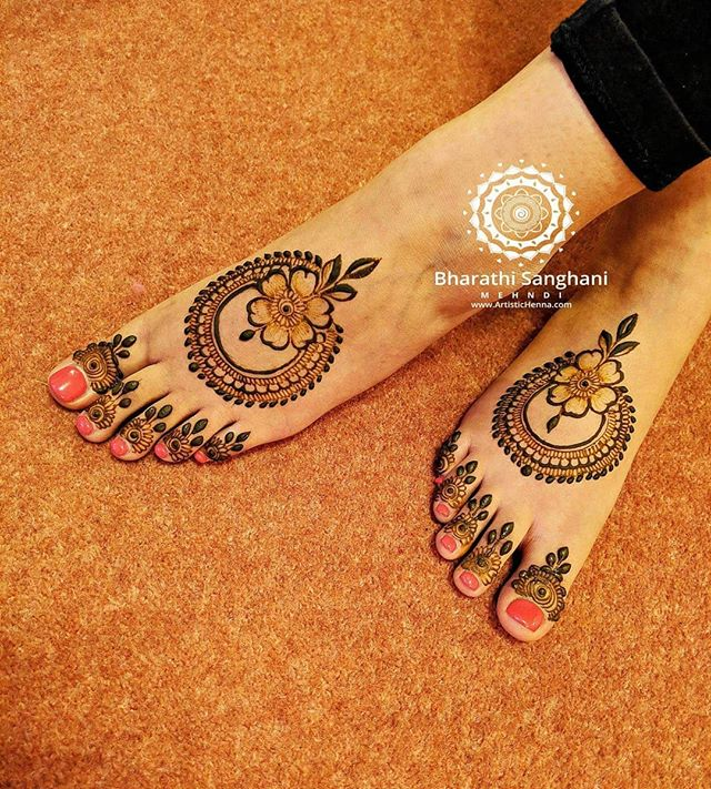 foot easy mehndi design