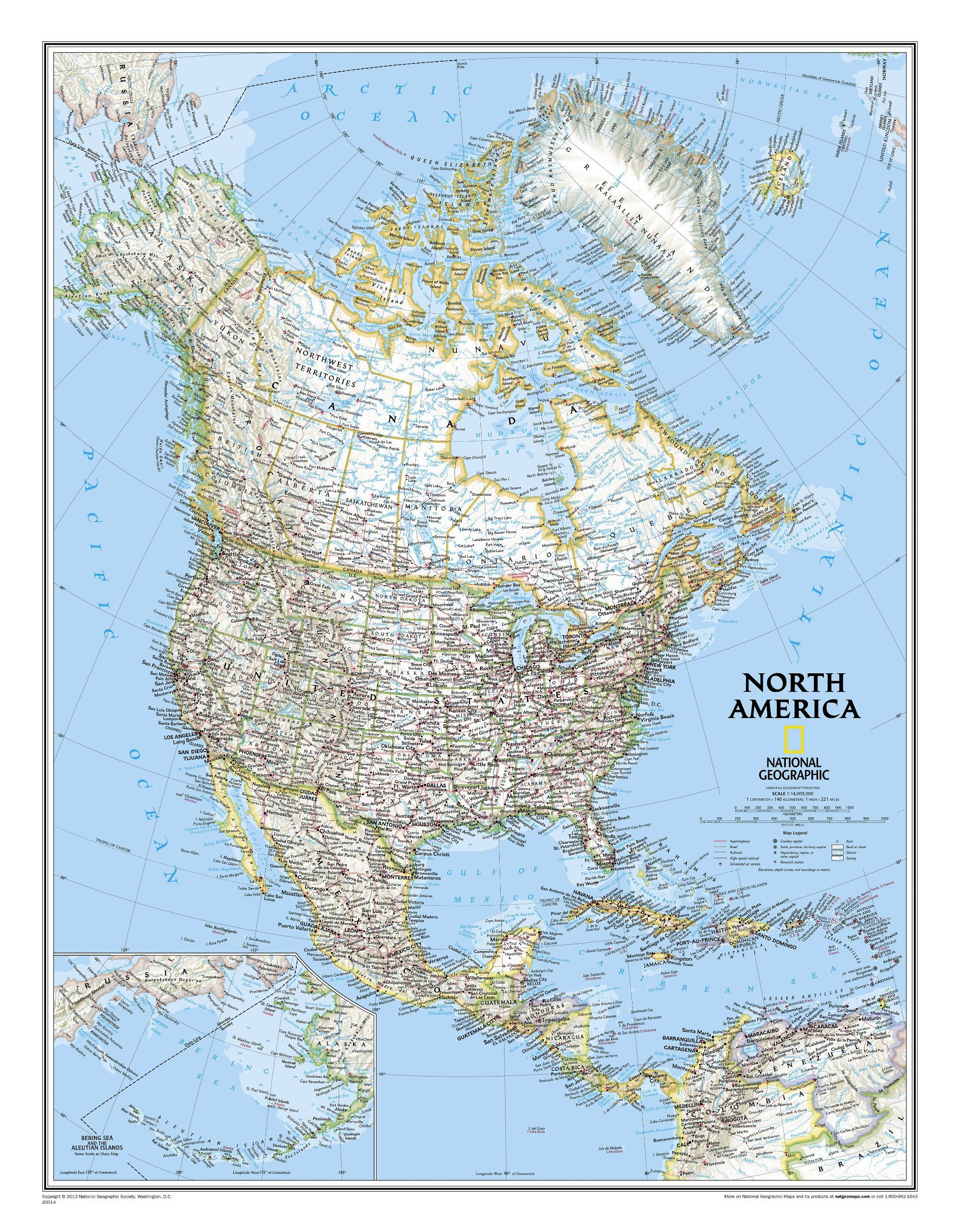 North america classic tubed national geographic reference map north america classic tubed national geographic reference map national geographic maps gumiabroncs Image collections