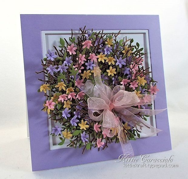Inspired Twiggy Floral Wreath by kittie747 - Cards and Paper Crafts at Splitcoaststampers