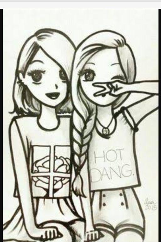 Amigas Desenhos Tumblr Para Colorir Desenhos De Melhor Amigo