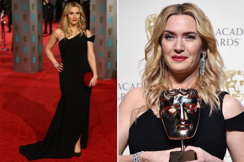 Los mejores looks de los premios BAFTA 2016  Kate Winslet llevó un Antonio Berardi de escote asimétrico que le quedaba perfecto. Muy acertado el clutch rojo. Foto: EFE/EPA y AFP Photo