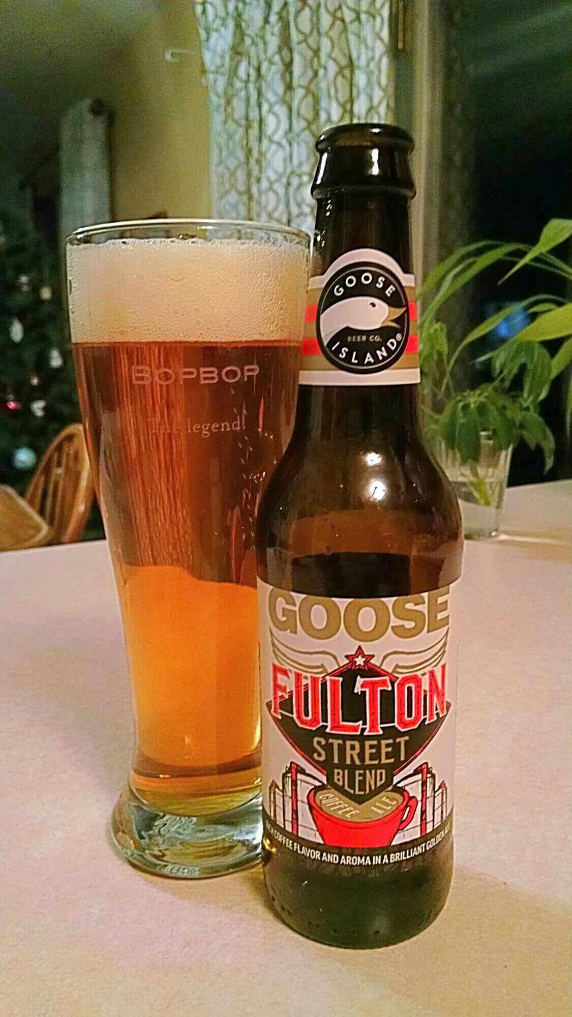 Fulton St Blend Coffee Ale Goose Island Beer Co. ビール, 酒