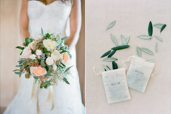 Andrea and Adam – Tuscany Wedding. Fantastic idea - using herbs or leaves to toss instead of rice.