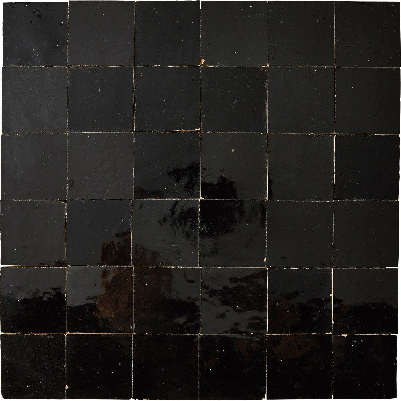 Mosaique Mur Zellige Noir 5 X 5 Cm Leroy Merlin Zellige Mosaique Leroy Merlin Mosaique