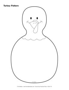 Website has various templates for a turkey for for Turkey template for bulletin board
