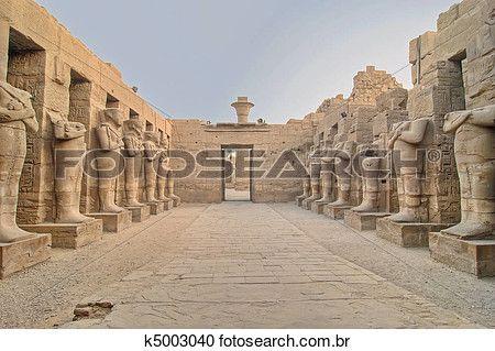 karnak, templo, em, luxor Ampliar Foto