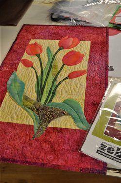 Simple Tulip Quilt by Debra Gabel as seen on Quilting Arts TV ... : tulip quilts - Adamdwight.com