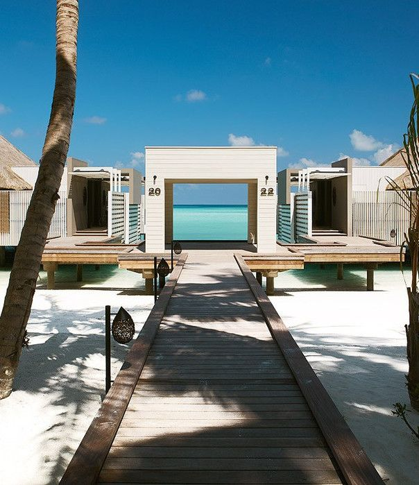 At Cheval Blanc Randheli in the Maldives, in lieu of flip-flops or disposable slippers there are chic espadrilles - his and hers - in the hotel's signature gray-green.