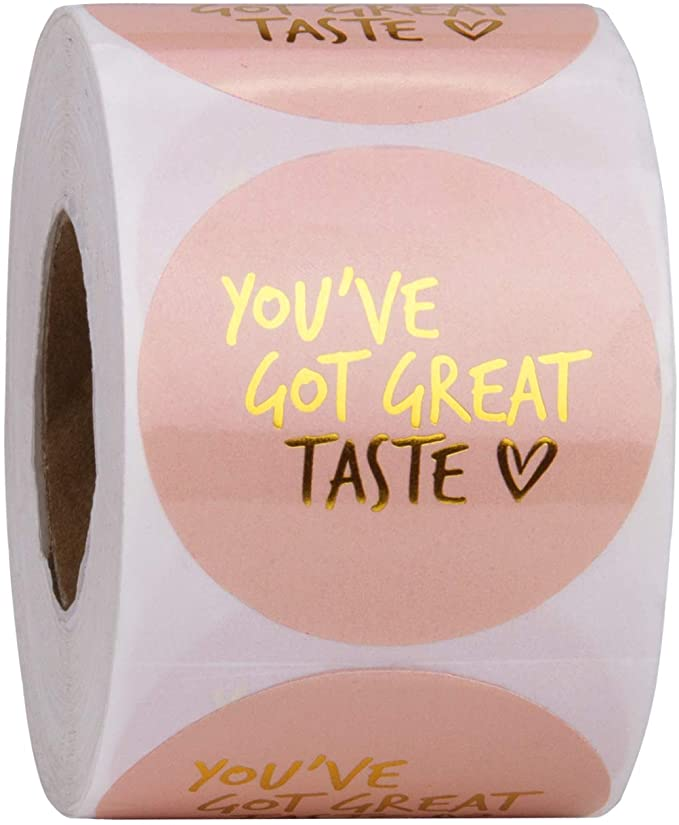 Amazon Com Wrapaholic You Ve Got Great Taste Stickers Gold Foil Business Thank You Stickers Handmade Packaging Packaging Ideas Business Packaging Stickers
