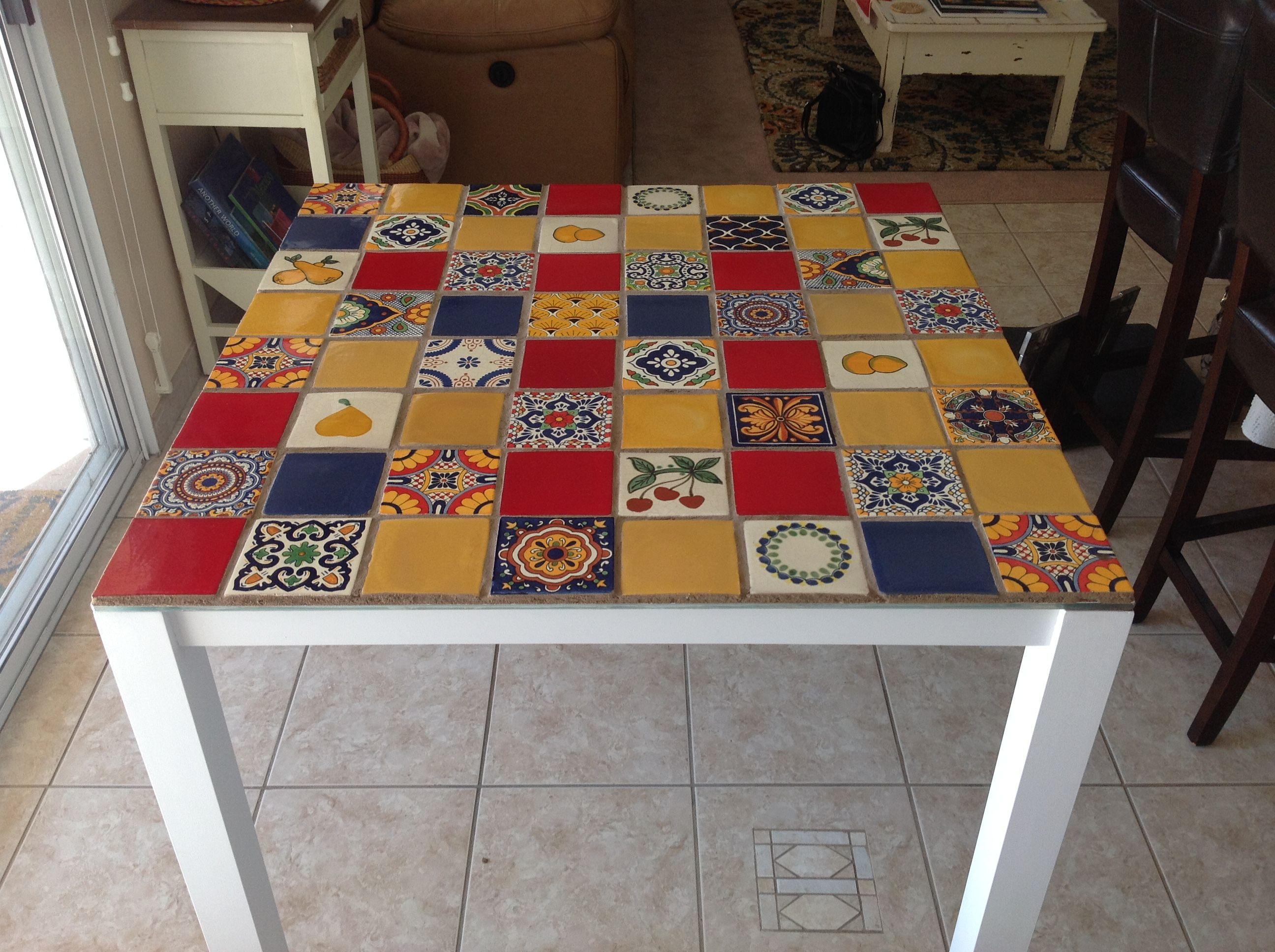 my mexican talavera tiled table i