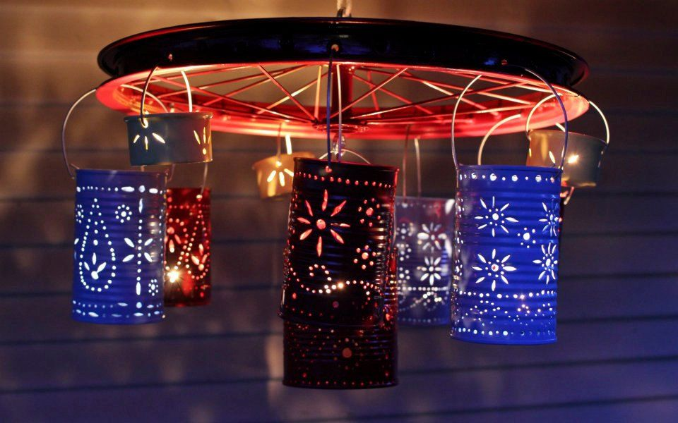Tin Can Candle Chandelier 10000 Via Etsy Products I
