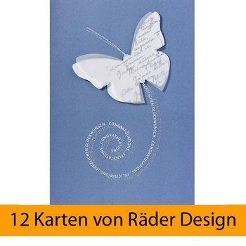 """Schmetterling Karte """"Herzlichen Glückwunsch"""", Blau 12er S... https://www.amazon.de/dp/B06Y1KJCHT/ref=cm_sw_r_pi_dp_x_D3hlzbHZD9PCB"""