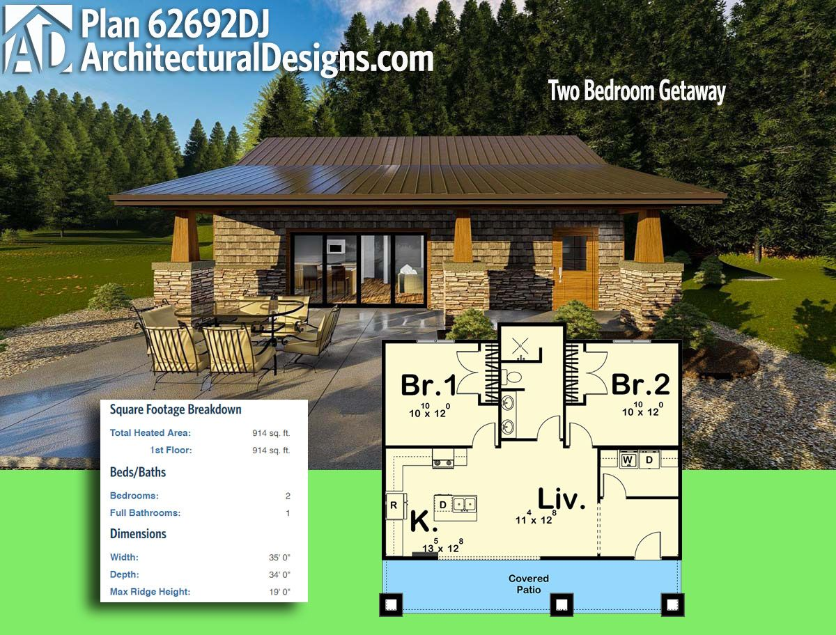 Architectural Designs UltraModern Tiny House Plan DJ gives you