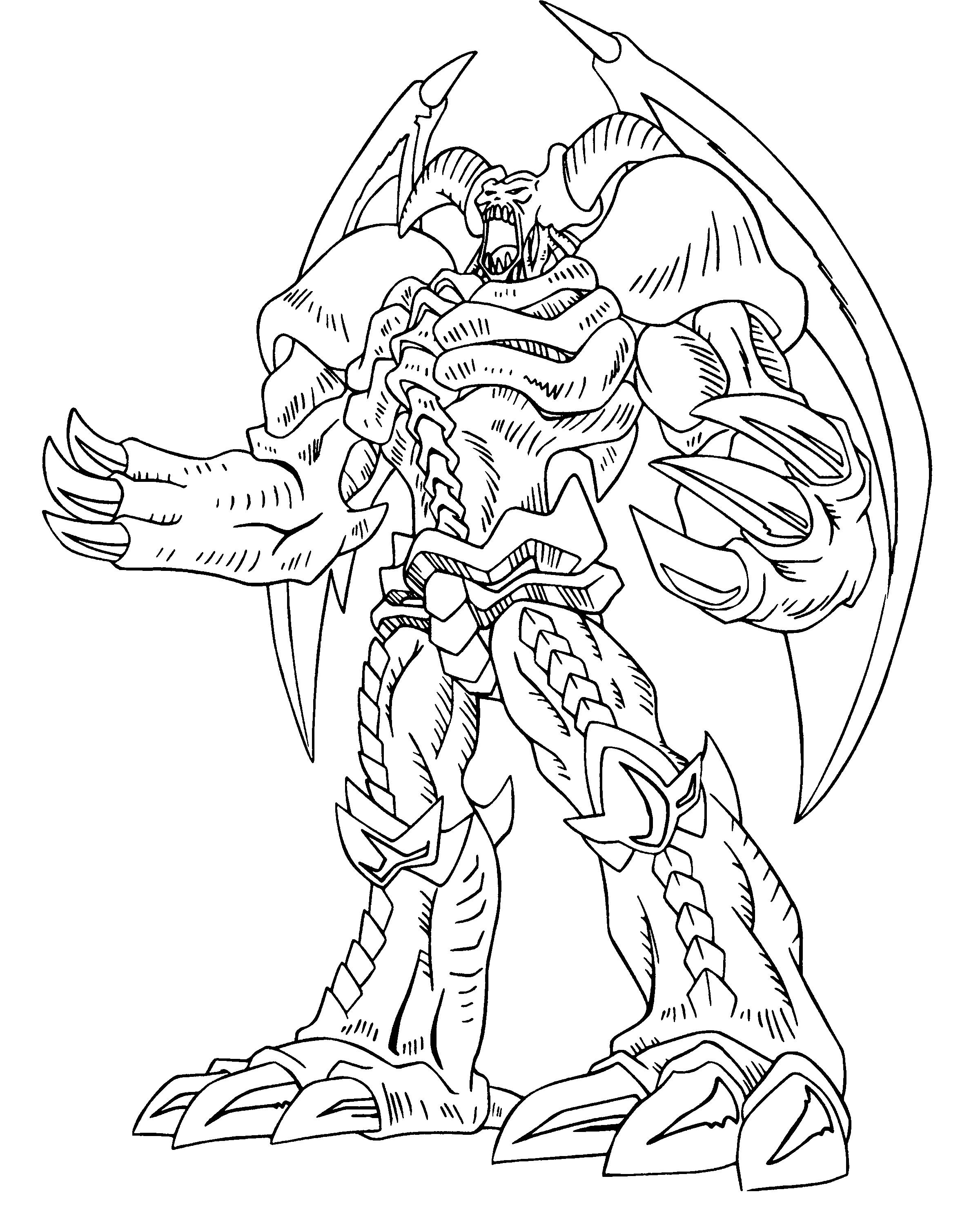 Free coloring pages yugioh - Yu Gi Oh Great Power Coloring Pages