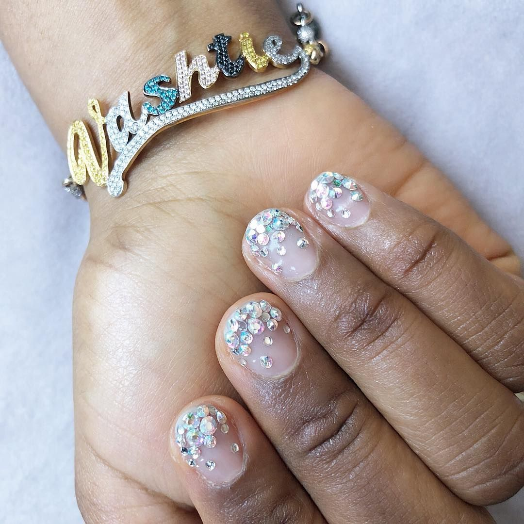 Cool Rhinestone Nail Art Designs For Summer 2018 Bedazzled Nails Nail Trends Nail Art Rhinestones