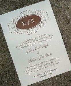 Invitation Template - Monogram Oval