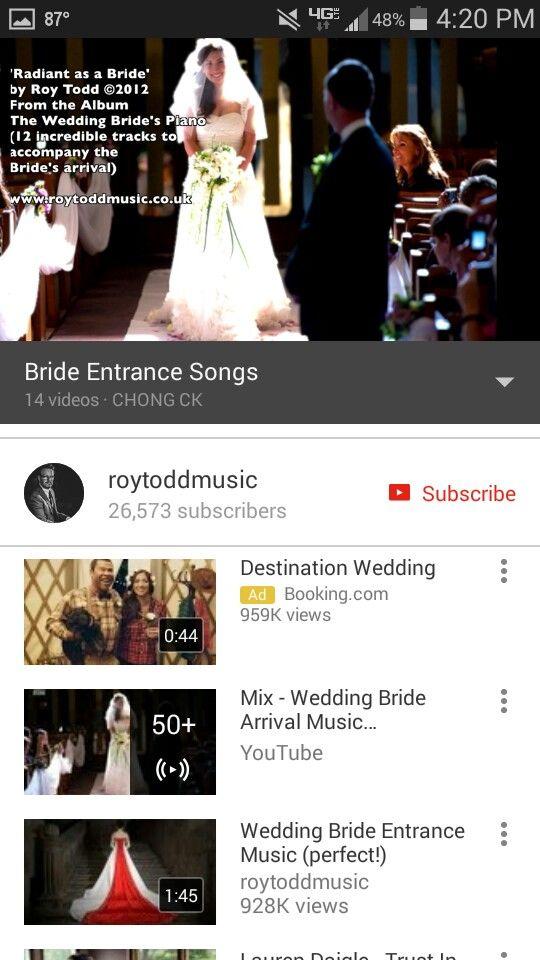 Bride Entrance Songs