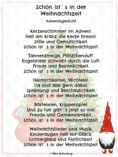 Gedicht Weihnachten Besinnlich - Xmas Ideen #heiligabendspruch