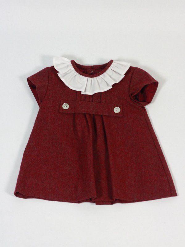 b593fae7e Garnet white ruffle neck dress Ancar - Baby clothing - Les bébés ...