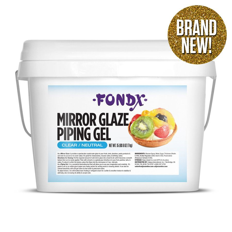 FondX Mirror Glaze Piping Gel 24 lb - Clear Edible glue ...