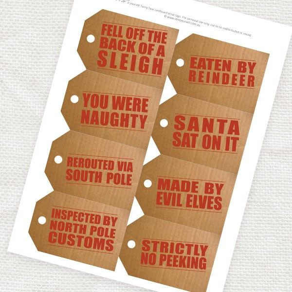 Do it yourself christmas gifts faux cardboard christmas gift do it yourself christmas gifts faux cardboard christmas gift tags printable solutioingenieria Gallery