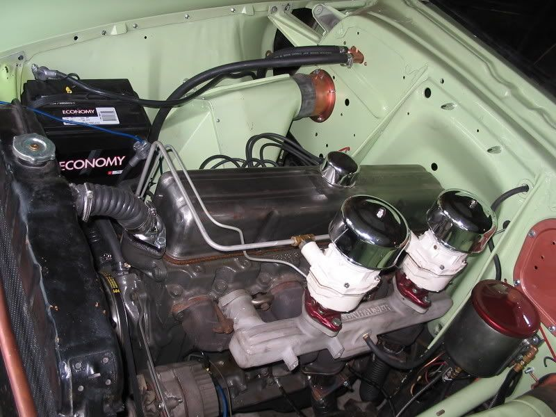 1954 chevy: a 235 6 cylinder it had no oil filter, I ...